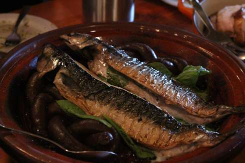 mackerel and merguez at cabane a sucre pied de cochon apple season 2014