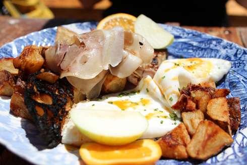 tripes and caviar montreal brunch eggs and porchetta
