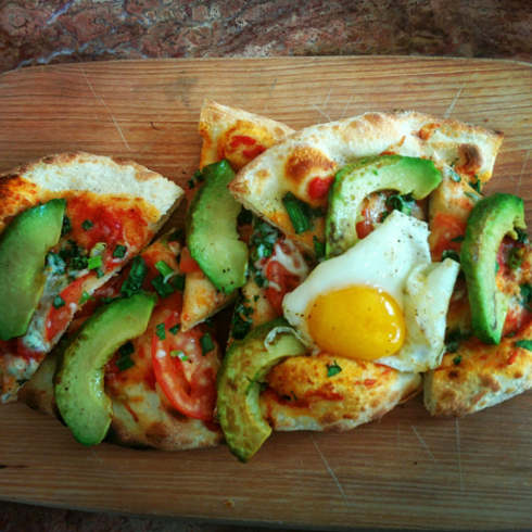 cafe parvis montreal breakfast pizza