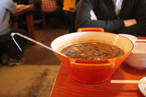 cabane a sucre pied de cochon soup bowl